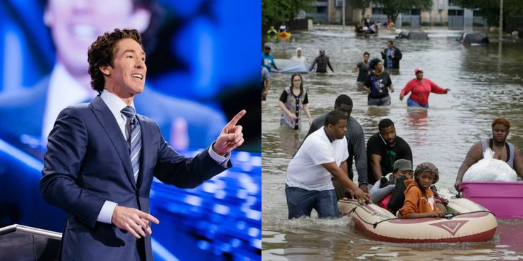 Pastor Joel Osteen Closed His Texas Megachurch To Flood Victims, Just Got Brutal Response