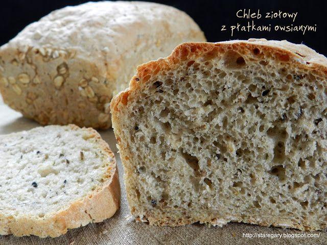 Stare Gary: Chleb ziołowy z płatkami owsianymi - kwietniowa pi...