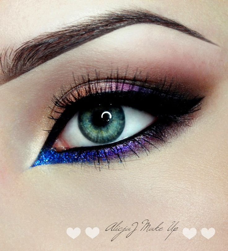'Colorful Eye' look by AlicjaJ Make Up using Makeup Geek's Corrupt, Mocha, Unexpected, Rapunzel, Simply Marlena, Caitlin Rose, In The Spotlight, and Mesmerized eyeshadows and foiled eyeshadows along with Nightlife pigment.