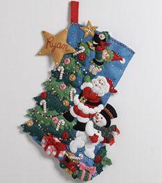 Bucilla ® Seasonal - Felt - Stocking Kits - The Finishing Touch