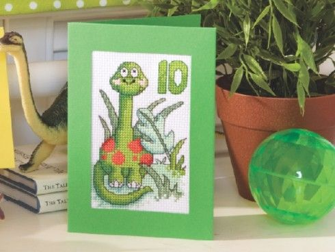 Dinosaur Trio  The World of Cross Stitching Issue 181 Hardcopy