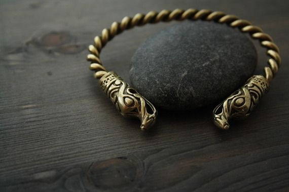Bronze Vikings bracelet, bracelet de dragon