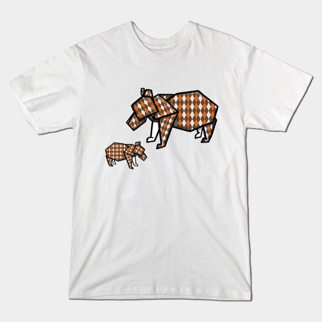 Mothers Day Bears origami t-shirt