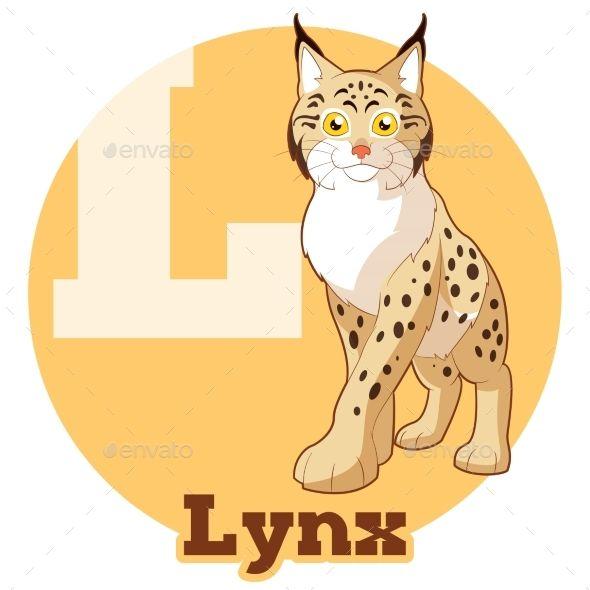 Vector image of the ABC Cartoon Lynx