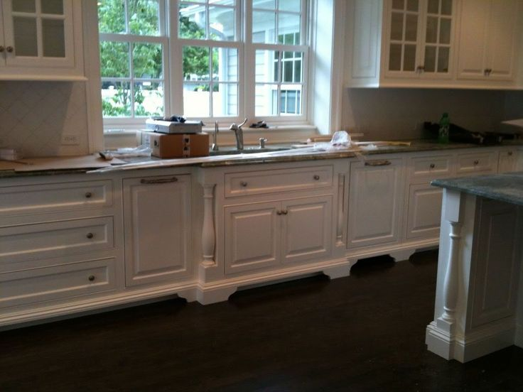 cabinet feet forwardset sink split post mouldings  Kitchen  Pinterest  Kitchen Cabinets