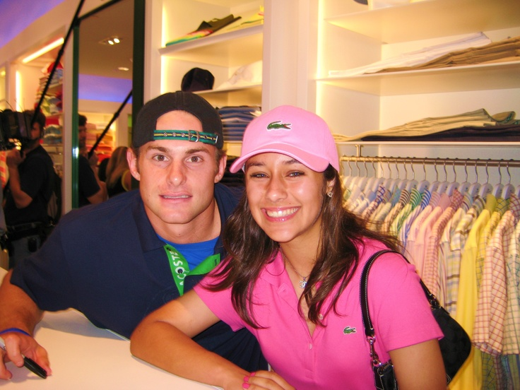 Andy Roddick, Professional Tennis player, met him at the Lacoste Store opening at the Domain in Round Rock, TX