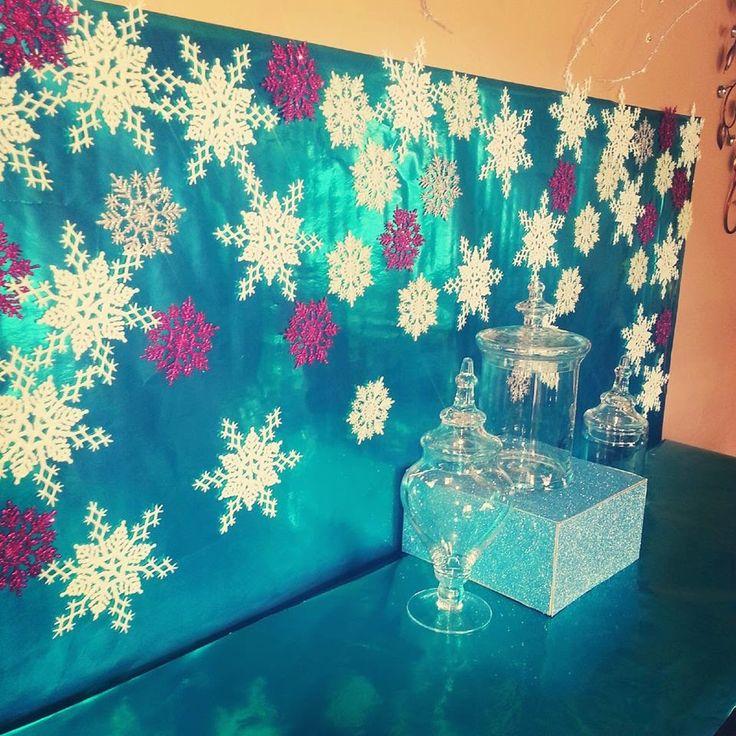 Chardonnays & Soirées: DIY Frozen Backdrop