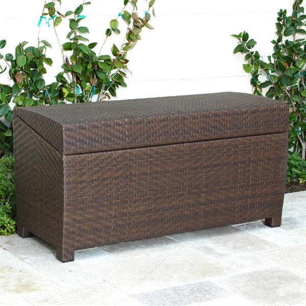 Outdoor Furniture Rattan Storage Box Outdoor