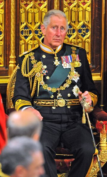 Prince Charles, Prince of Wales attends the State Opening of Parliament in the House of Lords at the Palace of Westminster on June 4, 2014 in London, England.