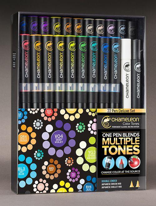 Kit com 22 Canetas Chameleon Color Tones Deluxe Set