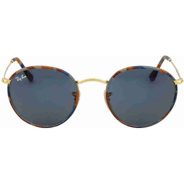 Ray-Ban Round Camouflage Sunglasses ($93) ❤ liked on Polyvore featuring jewelry, camouflage jewelry and camo jewelry