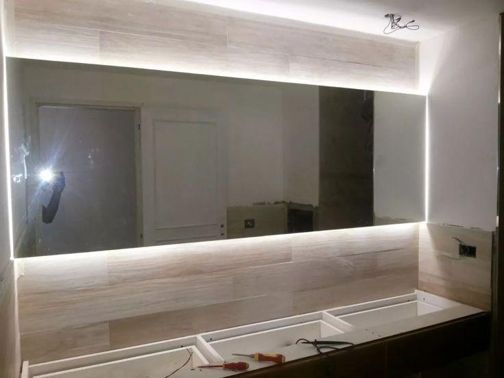 Las 25 mejores ideas sobre espejos con luz en pinterest - Espejo bano luz integrada ...