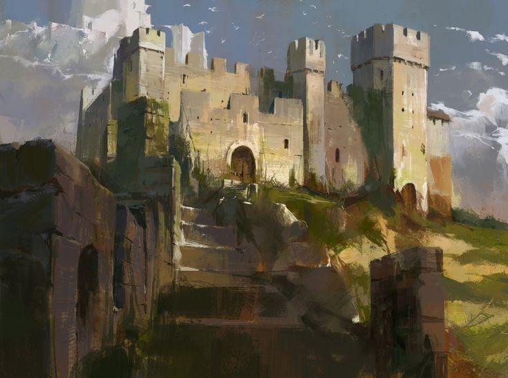 ArtStation - Castle Sketch 02, Swang .
