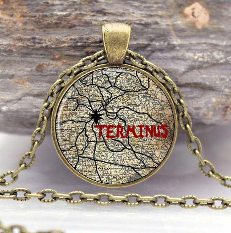 THE WALKING DEAD Necklace Pendant the TERMINUS punk jewelry Gothic Glasses ancient Pendant Necklace gift Chain //Price: $9.95 & FREE Shipping //     #walkingdead