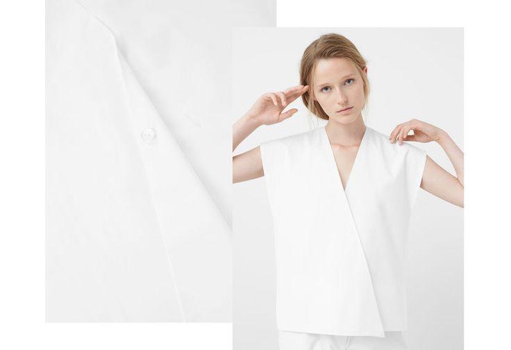PREMIUM - Croosover poplin blouse