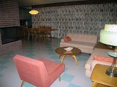 12 best images about 1950s living rooms on pinterest for Retro basement ideas