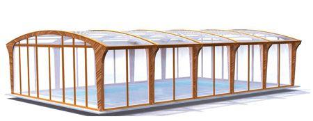Schwimmbadüberdachung aus Holz Aquahome | Abrisud Schwimmbadüberdachung – Hersteller Schwimmbadüberdachung