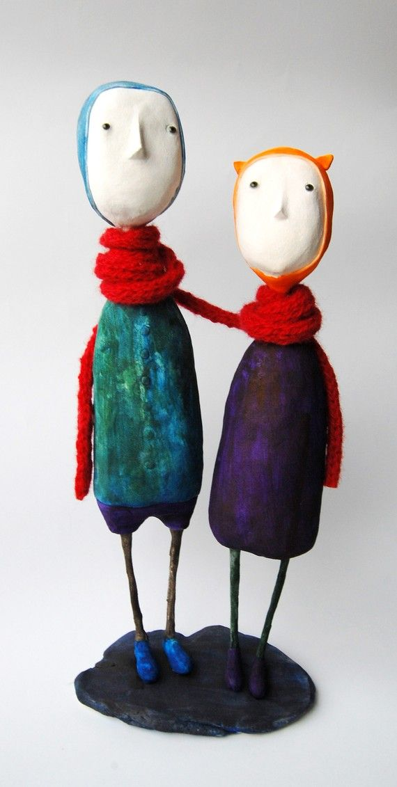 2 Art dolls by Elze