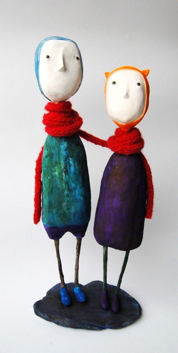 Art dolls by Elze on etsy
