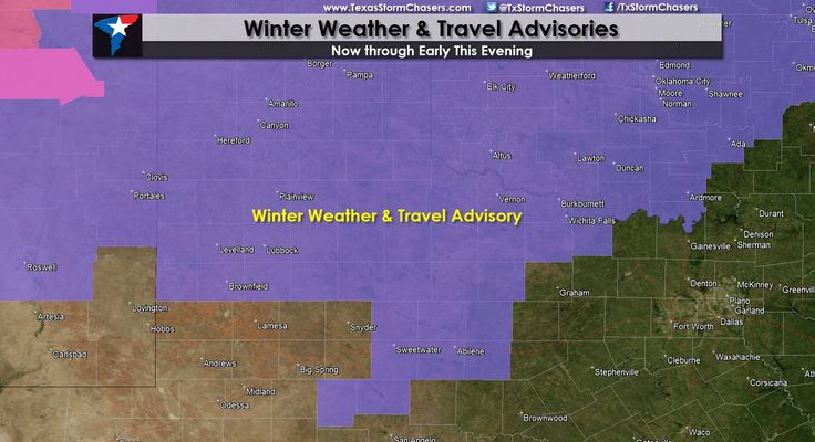 Winter Weather & Travel Advisories Expanded   The National Weather Service offices in Lubbock and San Angelo have both expanded their Winter Weather Advisories. A Winter Weather Advisory is now in effect for much of the South Plains including Lubbock. The Winter Weather Advisory also includes part of the Big Country including Abilene... Read the whole article at http://texasstormchasers.com/?p=33390 - David Reimer