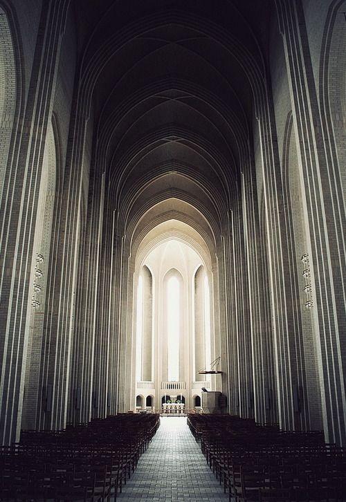 Grundtvig's Church in Copenhagen, Denmark