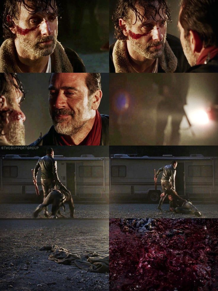 Season 7 sneak peak.. uhh just pinning this is making me sick ..but it's part of our TWD history.. so I'll pin it, but I'm not happy about it.