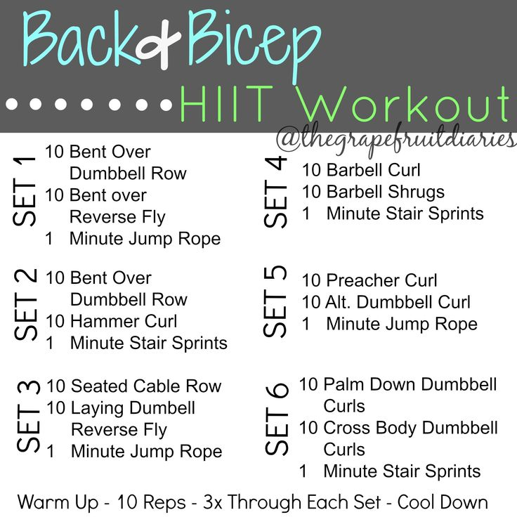 back and bicep workout for women - Google Search | HIIT | Pinterest ...