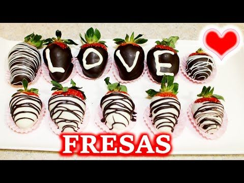 Como Hacer Fresas Cubiertas Con Chocolate ♥ San Valentin - YouTube
