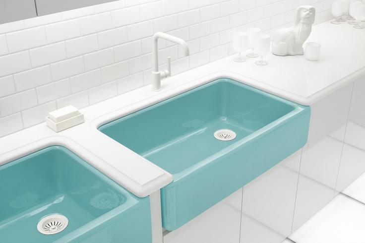 Kohler palermo blue farm sink unfortunately i think - Discontinued kohler bathroom sink faucets ...