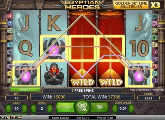Egyptian heroes slot (NetEnt) 434x total bet BigWin on free games!  You can find hundreds of Big Win pictures and videos here: http://www.bigwinpictures.com