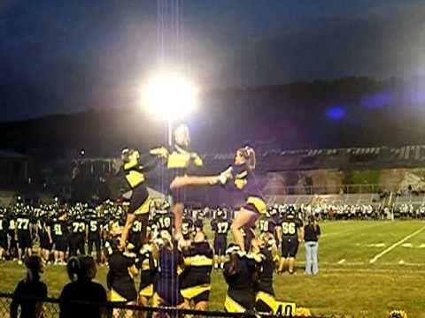 Panther Valley Varsity Cheerleading Kick Twist Pyramid.MP4