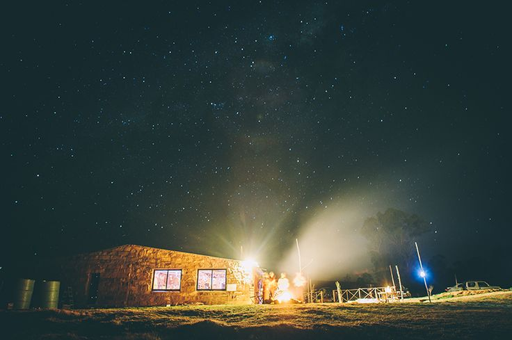 The Gourmet Shed with night Sky