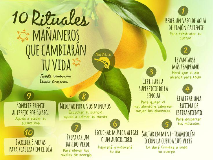 10 rituales mañaneros que cambiarán tu vida HÁBITOS SALUDALES