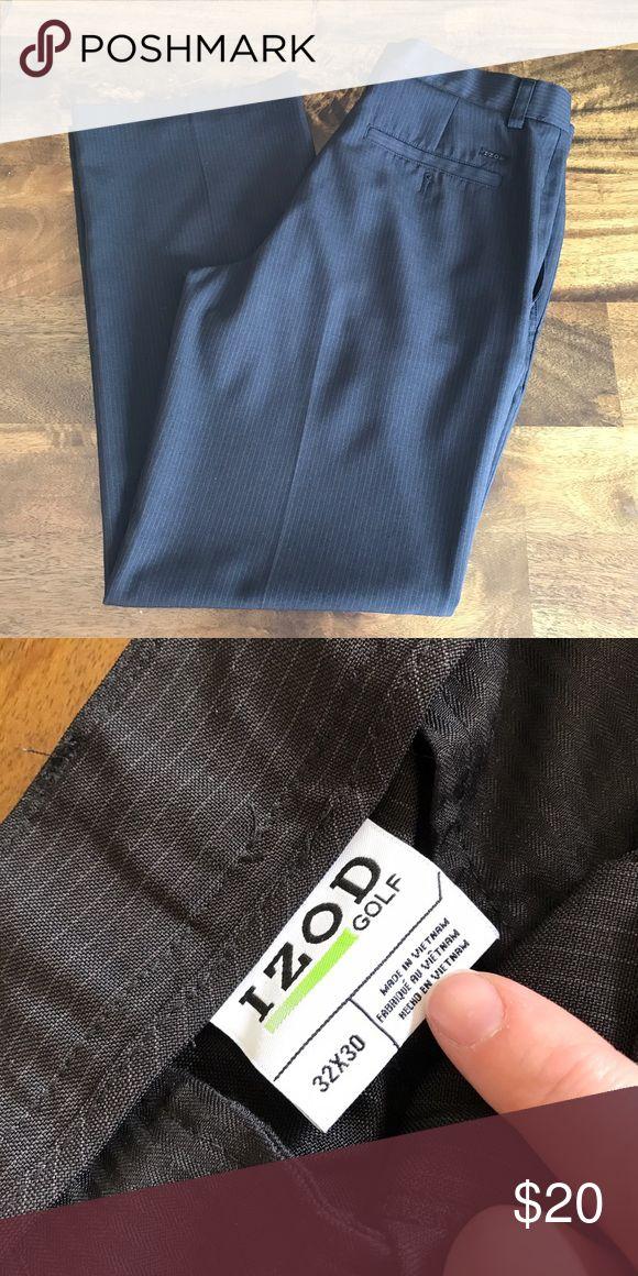 Pinstriped Izod Golf Pants Izod Golf Pants Black in color with light pinstripes Size 32/30 - true to size 100% polyester  ✅ Bundle & save - 15% off 2+ bundles 🚫 No trades Izod Pants Dress