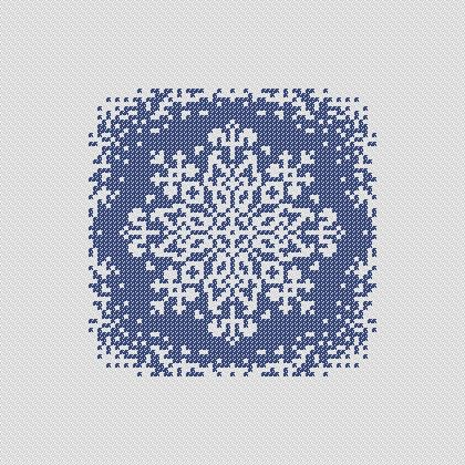 Snowflake. PDF Cross Stitch Pattern via Etsy