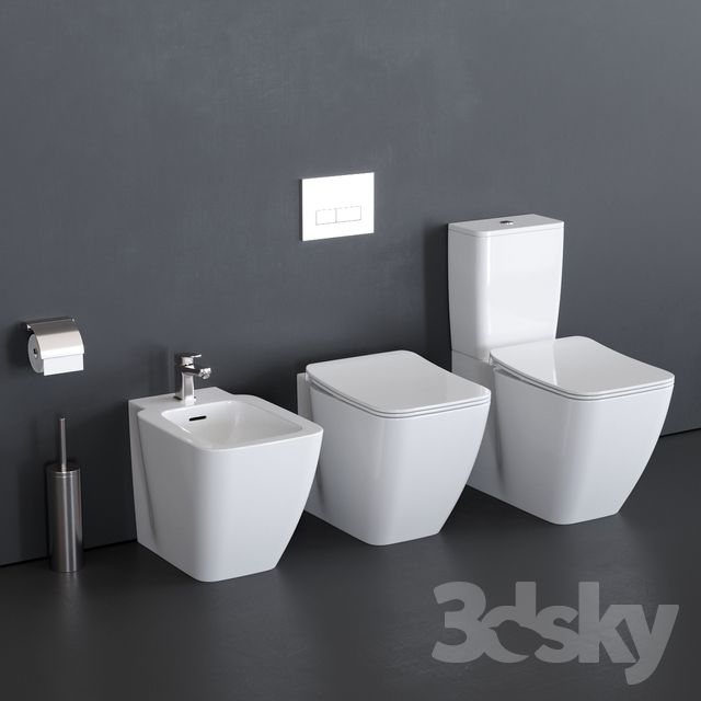 Sanitari Filo Muro Ideal Standard.3d Models Toilet And Bidet Ideal Standard Strada Ii Wc