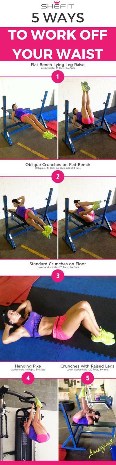 How to Lose that Muffin Top: Beginner Ab Workout for Women | Health + Fitness Tips
