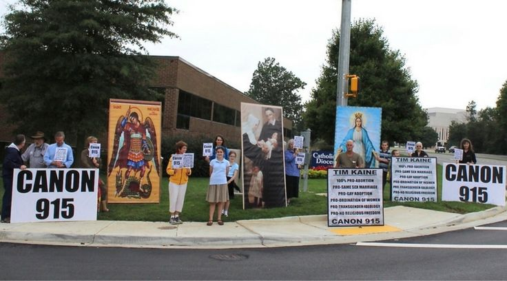 Catholics Publicly Request Sen. Kaine's Bishop to Keep the Law