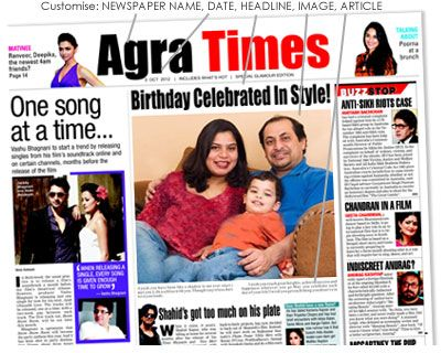 Custom Newspaper personalised prints archive Times of India news gift in India - Rs.499 : Gifts to India