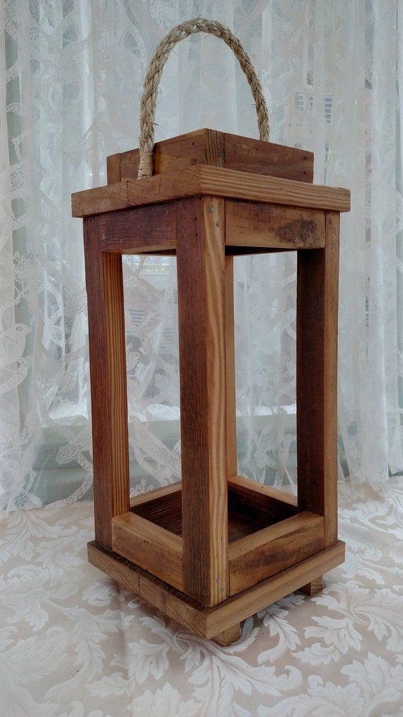 Rustic Wooden Lantern In 2019 Products Wooden Lanterns Wooden