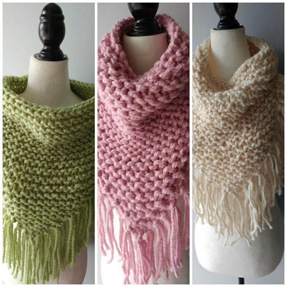 Bandana Fringe Cowl, Scarf, Knit scarf, Scarf, Cowl, Gift for her or him, Finges,