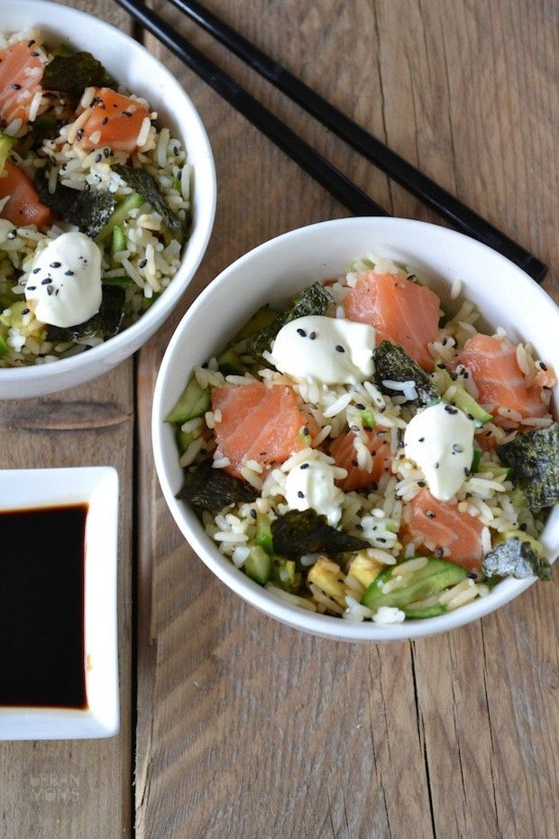 Sushi in a bowl recept - Pan van Pien | UrbanMoms.nl