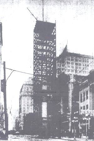 Tower Building going up on East Baltimore Street, around 1910. The grand old building would last until the 1980's, when it was torn down. In my mind, the Tower Building was perhaps the most attractive building in the Baltimore skyline.