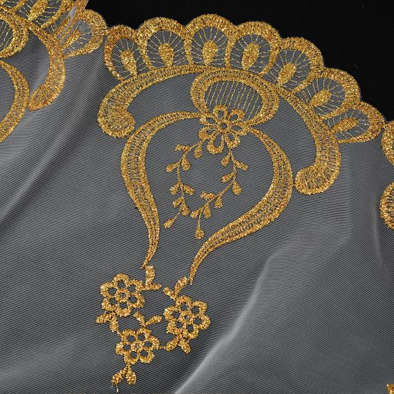 Metallic Lace Trim for Bridal Costume or Jewelry Crafts and