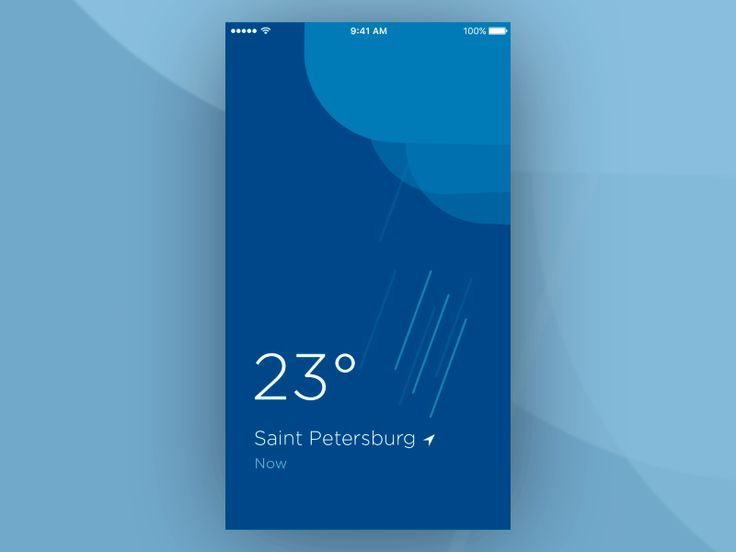 The concept for a simple weather app.  Follow me on Dribbble | Behance | Instagram