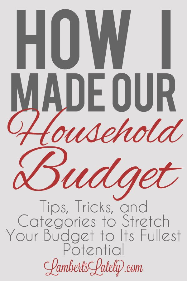 Great resource if you're planning a personal/household budget!