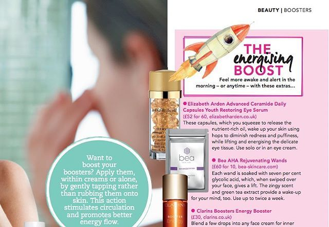 Thanks for the AHA Rejuvenating Wands love @topsanteuk! Grab a copy of this month's issue, you'll find us in the Beauty Booster feature! There's still time to vote for us to win our first Beauty Award too, link in bio ✨…