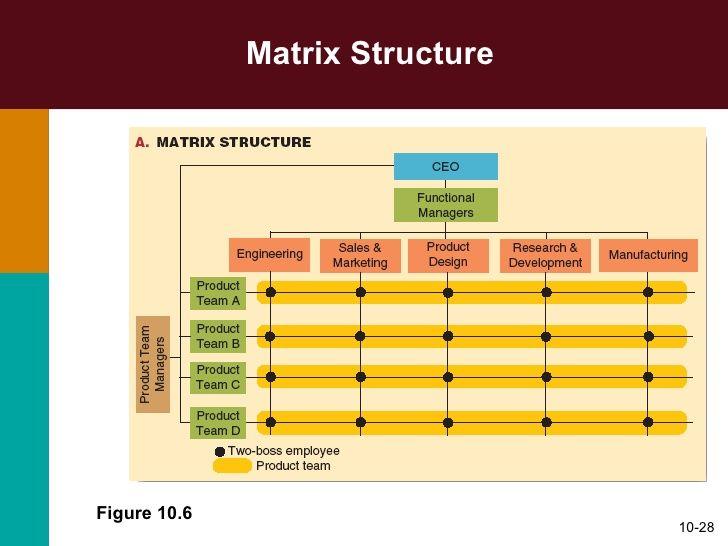 organizational charts of cross functional teams