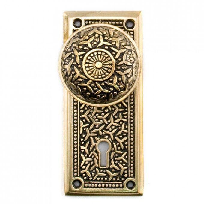 Rice Mortise Lock Set - Privacy - Blackened Brass