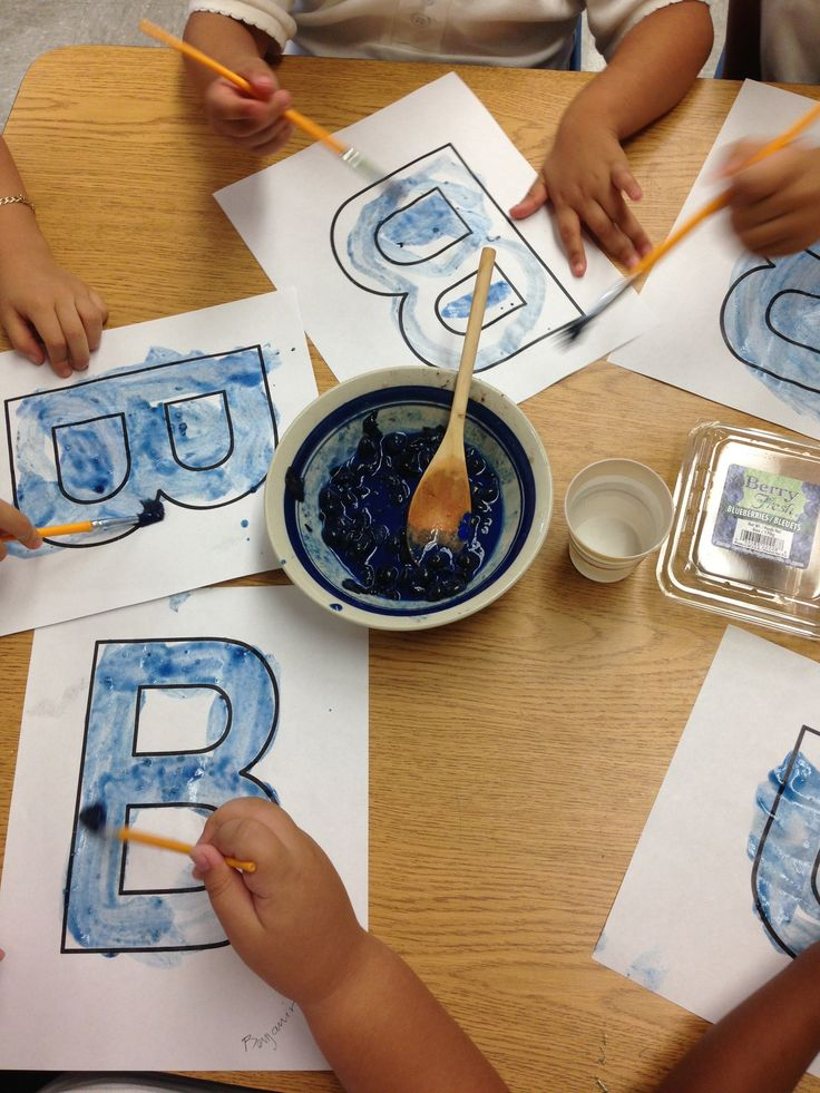 Art Idea: Blueberries for Sal - letter of the week: B is for Blueberry, and Blueberry painting.